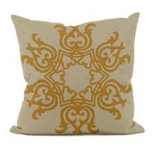Floral Motif Linen Throw Pillow