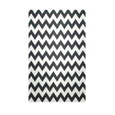Decorative Chevron Black/White Area Rug