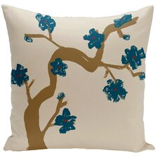 Floral Hypro-allergenic Polyester Throw Pillow