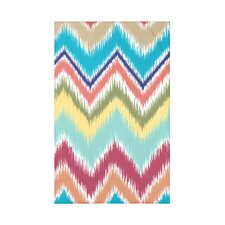 Ikat-arina Stripe Print Polyester Fleece Throw Blanket