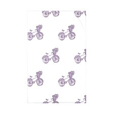Bicycles! Geometric Print Polyester Fleece Throw Blanket
