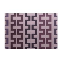 Cuff-Links Geometric Print Mulberry Outdoor Area Rug