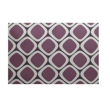 Pebbles Geometric Print Passion Flower Outdoor Area Rug