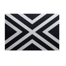 """X"" Marks the Spot Stripes Print Bewitching Outdoor Area Rug"