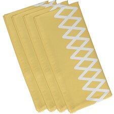 Lace Up Geometric Napkin (Set of 4)