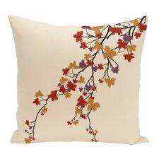 Maple Hues Flower Print Throw Pillow