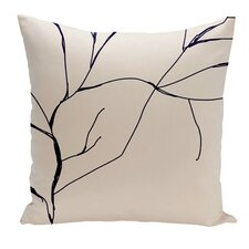 Floral Polyester Throw Pillow