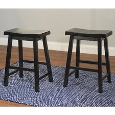 "Belfast Saddle 24"" Bar Stool (Set of 2)"