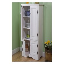 Extra Tall Pine Cabinet in White