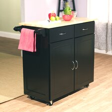 Venice Kitchen Island with Wooden Top