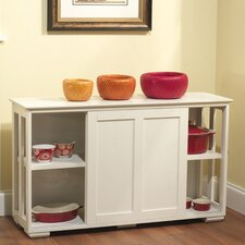 Pacific Antique White Kitchen Island with Wooden Top