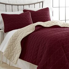 3 Piece Reversible Coverlet Set