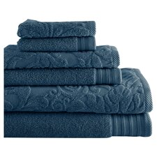 Jacquard 6 Piece Towel Set