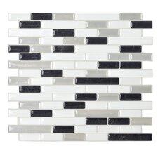 """Mosaik 10.25"""" x 9.13"""" Mosaic Tile in Black & White"""