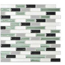 """Mosaik 10.25"""" x 9.13"""" Mosaic Tile in White & Soft Green"""
