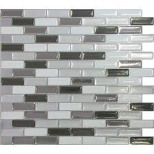 """Mosaik 9.5"""" x 11"""" Mosaic in Gray & Black"""
