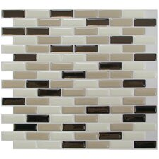 "Mosaik 9.1"" x 10.2"" Mosaic in Beige & Brown"