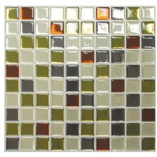 "Mosaik 9.85"" x 9.85"" Mosaic Tile in Multi"