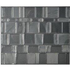"Mosaïk 11.55"" x 9.65"" Mosaic Tile in Tango Onyx"