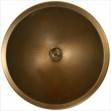 Bronze Small Round Smooth Bathroom Sink