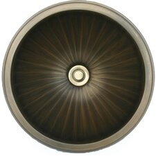 Bronze Small Round Fluted Bathroom Sink