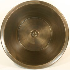 Bronze Round Flat Bottom Smooth Bathroom Sink