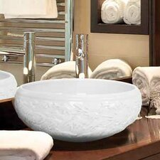 Hand Carved Porcelain Fish Bathroom Sink