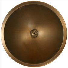 Bronze Large Round Smooth Bathroom Sink