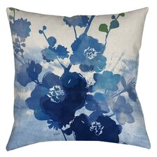 Streams of Blues Printed Polyester Throw Pillow