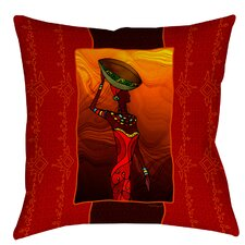 African Beauty 2 Printed Throw Pillow