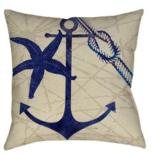 Anchor Printed Throw Pillow