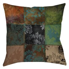Velvet Patch Printed Throw Pillow