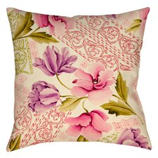 Tulips and Lace Printed Throw Pillow