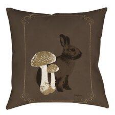 Luxury Lodge Rabbit Indoor/Outdoor Throw Pillow