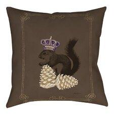 Luxury Lodge Squirrel Indoor/Outdoor Throw Pillow
