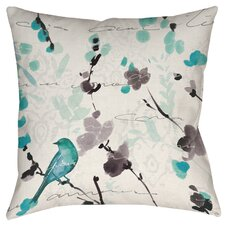 Flowing Florals Printed Throw Pillow