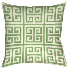 Greek Key 2 Printed Throw Pillow