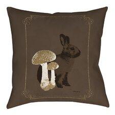 Luxury Lodge Rabbit Printed Throw Pillow