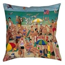 Life's a Beach Printed Throw Pillow