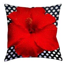 Hibiscus Printed Throw Pillow