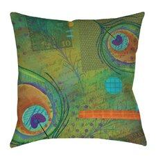 Peacock Pattern 2 Indoor/Outdoor Throw Pillow