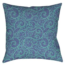 Funky Florals Swirl Pattern Printed Throw Pillow