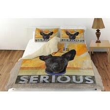Dog Days - Little Black Pup Duvet Cover Collection