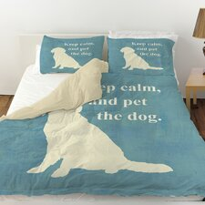 Keep Calm and Pet the Dog Duvet Cover