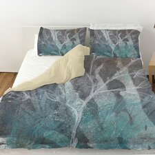 Ombre Wildflowers 4 Duvet Cover