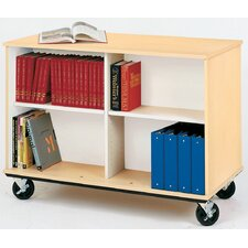 Mobiles Double Sided Book Cart