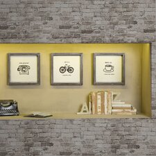 Morning News by Valentina 3 Piece Framed Painting Print Set