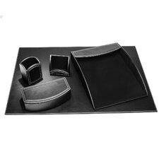 5 Piece Leatherette Desk Set