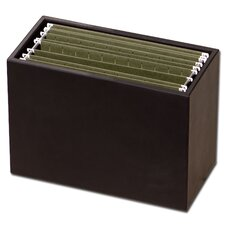 1000 Series Classic Leather Hanging File Folder Box in Black