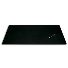 1000 Series Classic Leather 38 x 24 Desk Mat without Rails in Black